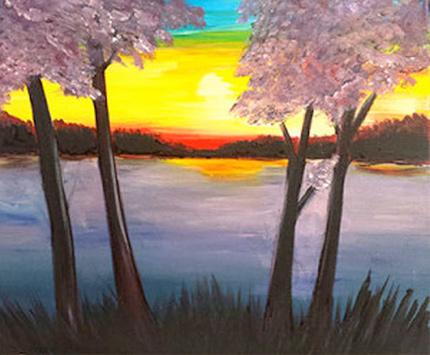 Summer Skies Painting